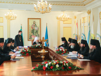 Епископ Петропавловский и Булаевский Владимир принял участие в заседание Синода Митрополичьего округа Русской Православной Церкви в Республике Казахстан