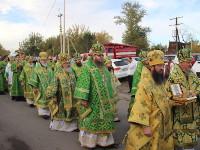 Преосвященнейший епископ Владимир принял участие в торжественном крестном ходу и освящении памятника преподобному Севастиану Карагандинскому в «Шахтёрской столице»