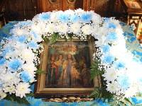 Всенощное бдение в канун праздника Покрова Пресвятой Богородицы состоялось в Главном храме Петропавловской и Булаевской епархии