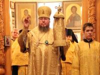 Преосвященнейший епископ Владимир возглавил служение Всенощного бдения в Вознесенском кафедральном соборе