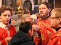 Божественная Литургия в храме Всех Святых